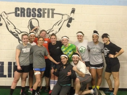 Doylestown Women's Team working out at Crossfit Lifeforce.